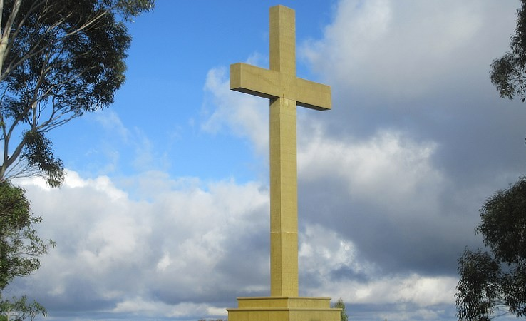 The Great Cross memorial at Mount Macedon.